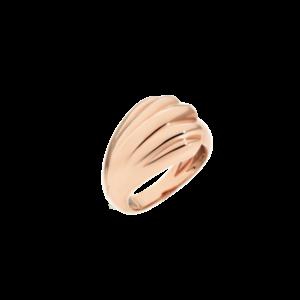 anello conchiglia galvanica in oro rosa