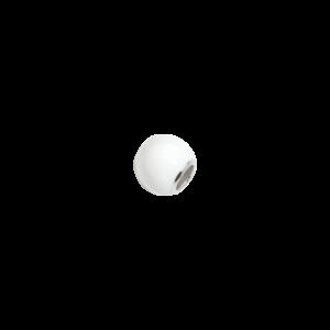bead pallina di neve bianca