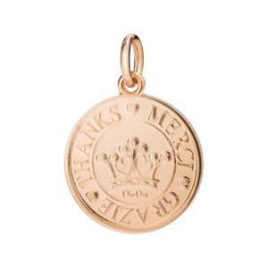 monetina oro rosa.grazie in tutte le lingue del mondo