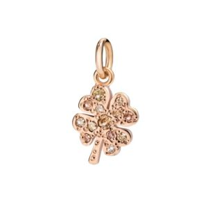 quadrifoglio.la fortuna in versione super.oro rosa.diamanti brown