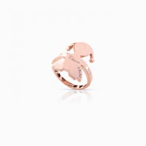 i classici.anelli.abbracci.bimba.oro rosa.diamante
