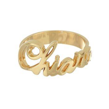 Anello Nome personalizzato – Argento 925 Oro
