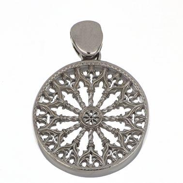 Ciondolo con Rosone di Collemaggio – Argento 925