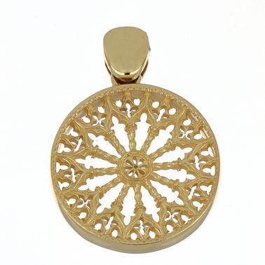 Ciondolo con Rosone di Collemaggio – Argento 925 Oro