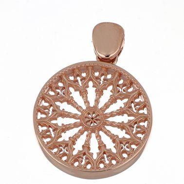 Ciondolo con Rosone di Collemaggio – Argento 925 Rosa