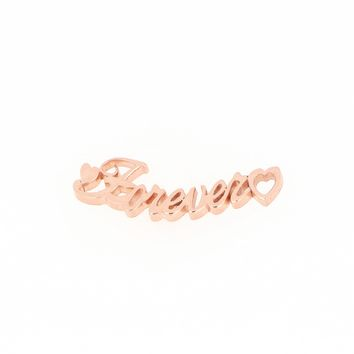 Monorecchino Forever – Argento Rosa